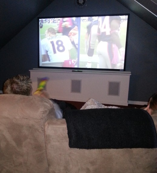 Sunday football home theater