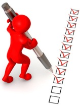 Checklist accomplished